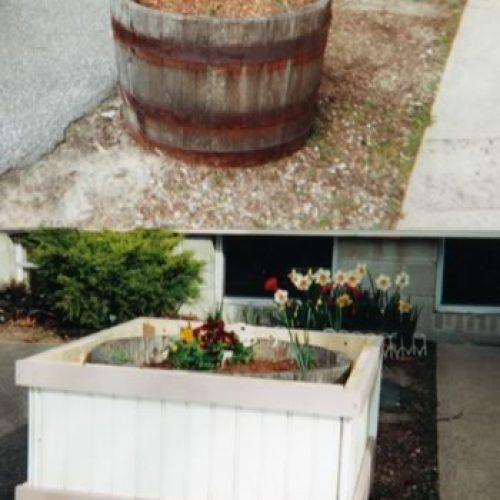 Barrel Planter Surround