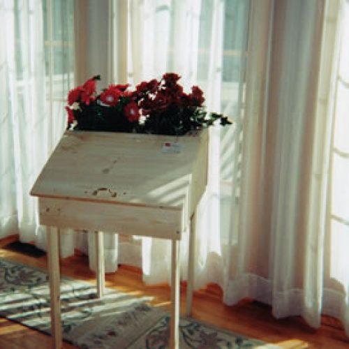 Nostalgic Inkwell Desk